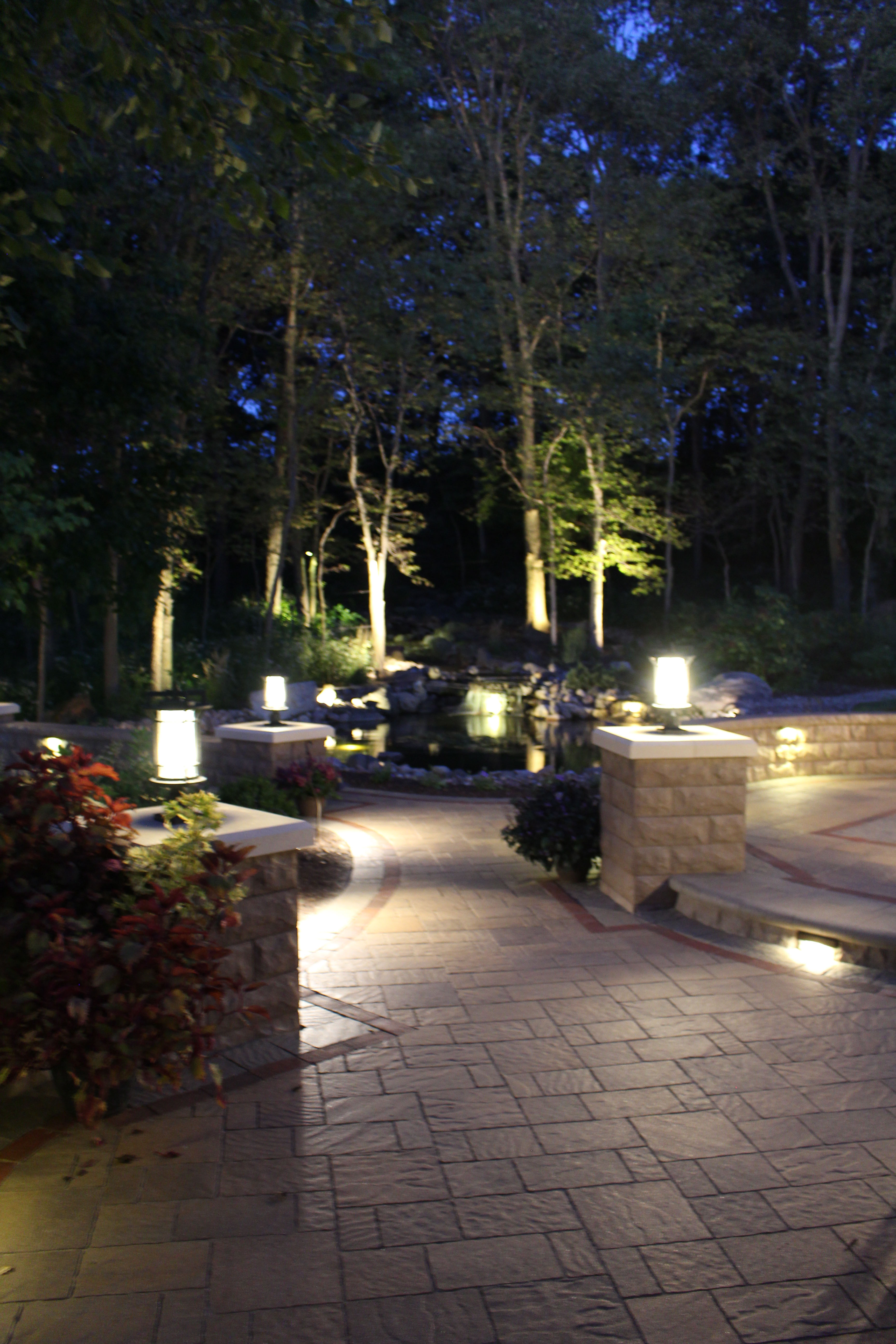 Landscape Lighting For Safety And Beauty By Celtic Landscaping Wiring Security Lights Back Deck Installing Exterior Can Dramatically Change The Look Feel Of Any Yard Helping You Extend Enjoy More Your Living Space