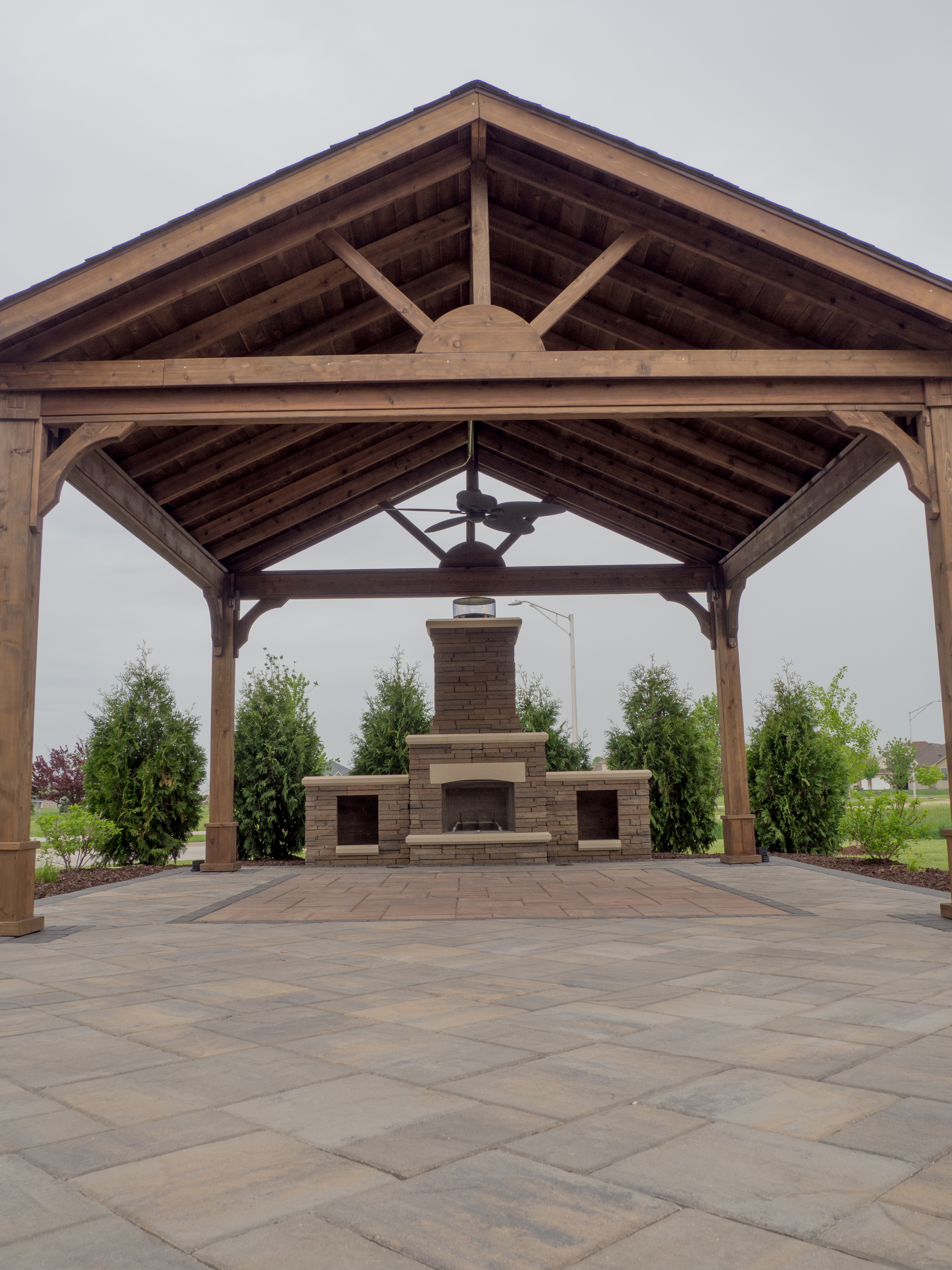 Outdoor Kitchen And Pavilion Celtic Landscaping
