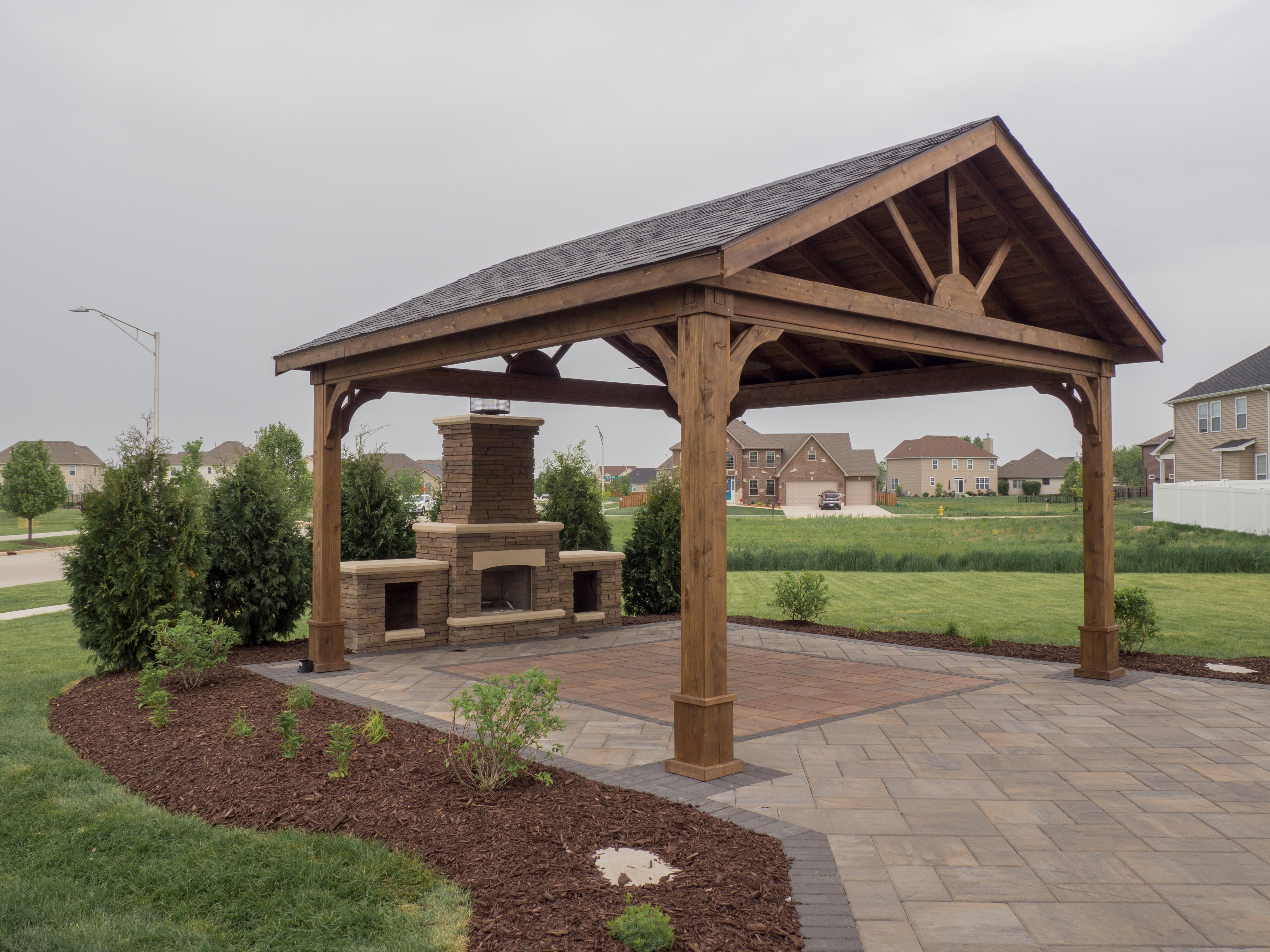 Open Outdoor Kitchen Pavilion Video